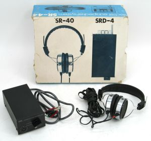 Vintage Stax SR-44 Headphone Set SR-40 Electrec Earspeaker System SRD-4 Adapter