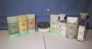 BVLGARI Toiletry Travel Gift Set Shower Gel Lotion Shampoo Conditioner Soap x9