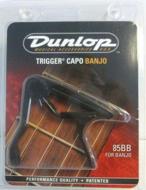 NEW Dunlop 85BB Trigger Capo For Banjo Flat Black 85BB