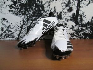 Adidas Football Men's Shoes 12/D White & Black Athletic Sneakers New With Box