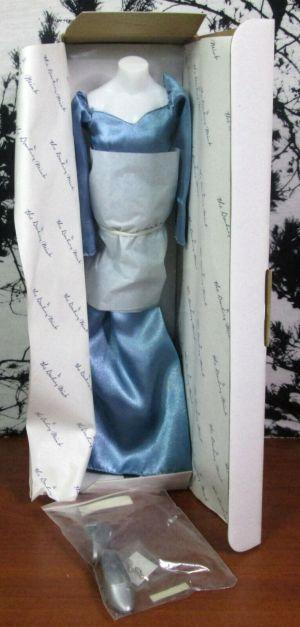 Danbury Mint The Princess Diana Royal Wardrobe Blue Satin Evening Gown 773-007