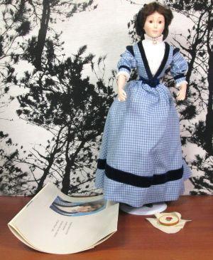 "Franklin Heirloom Little Women Collection Meg Porcelain 18"" Doll In Original Box"