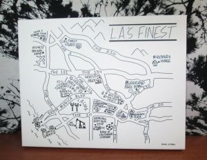 L.A.'s Finest 2019 TV Show Media Promo Map Art Locations Of Los Angeles