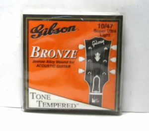 3 Gibson Bronze Alloy Wound Acoustic Guitar String Super Ultra Lt 10/47 G-200SUL