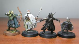 Lot 4 Lord of The Rings LOTR Legolas Aragorn Gandolf Pippin Games Workshop Metal