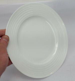 """Mikasa Swirl White China 9"""" 8.8 in Salad Plate"""