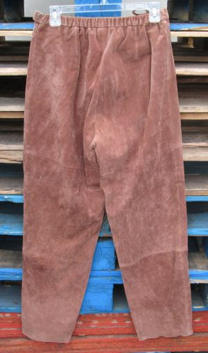 Pamela McCoy Collections Womens Brown High Waisted Leather Pants Size Medium NWT