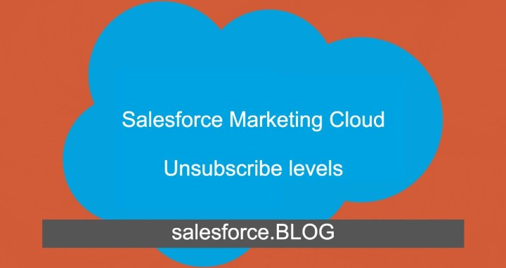 Salesforce Marketing Cloud Unsubscribe levels