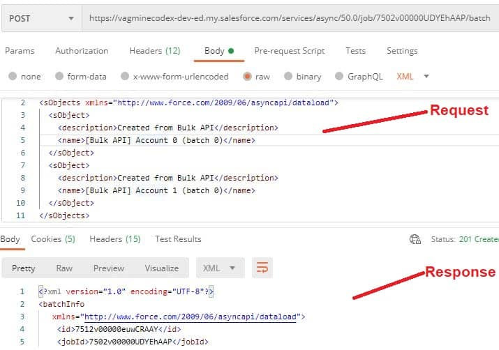Add Batch to Bulk Job- SalesforceCodex