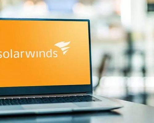 SolarWinds Logo in a Computer