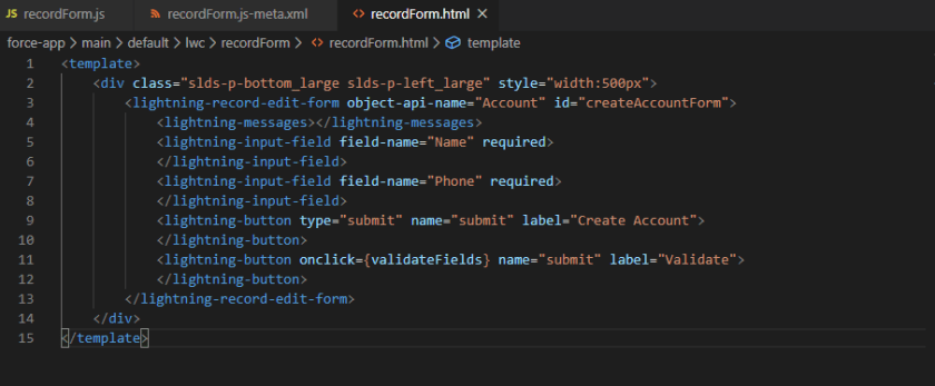 Validate Lightning Input Field On Button Click in Lightning Record Edit Form