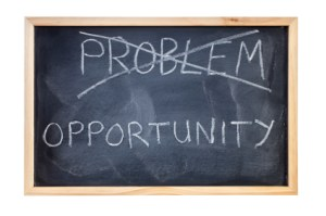 Problem is Opportunity Blackboard Concept