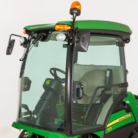1575 Front Mower with optional side mirrors, beacon light, and rear lighting