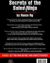 Secrets of the Sales Ninja book back