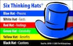 Look to each team members skills to fill different thinking hats