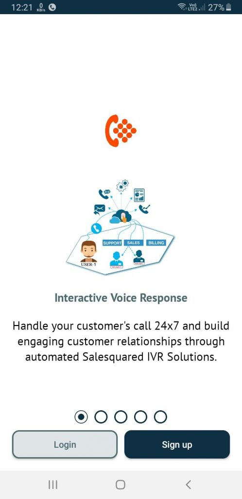 IVR Service - Salesquared App Splash Screen
