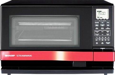 sharp ax 1100r supersteam oven 1 0 cu ft countertop steamwave microwave 900 watts steam engine heater