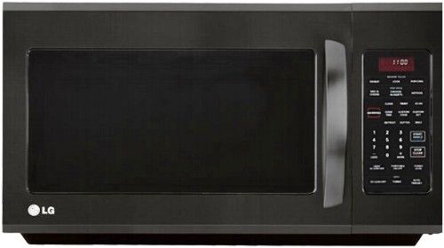 lg lmv2015sb over the range microwave with warming lamp smooth black 2 0 cu ft oven capacity