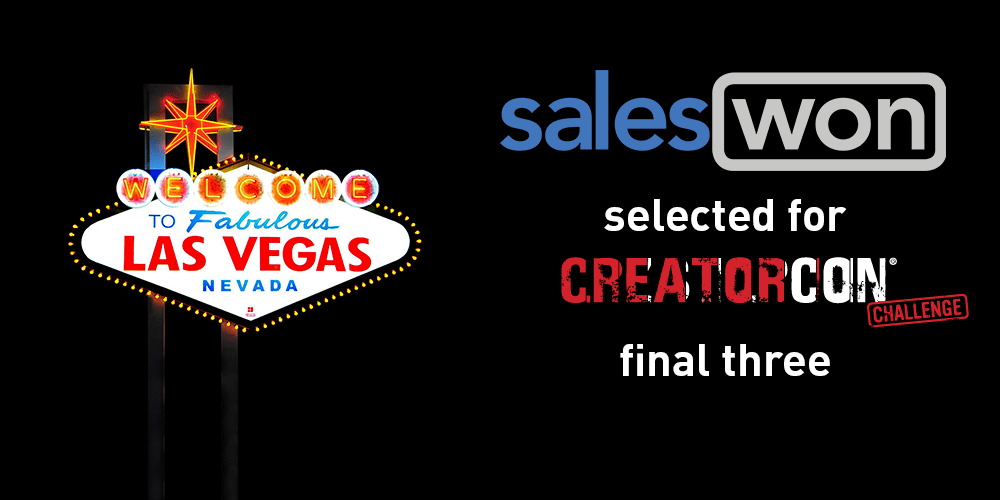 SalesWon Selected for CreatorCon Final Three