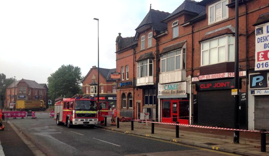 Fire crews continue the investigation into the Walkden fire - By Gary McDonnell