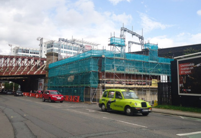 The pub under demolition in 2012 - Matt Doran