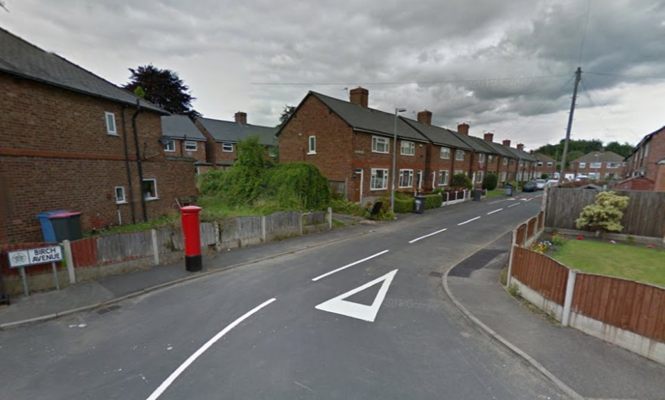 Birch Avenue in Cadishead as it looks today © Google