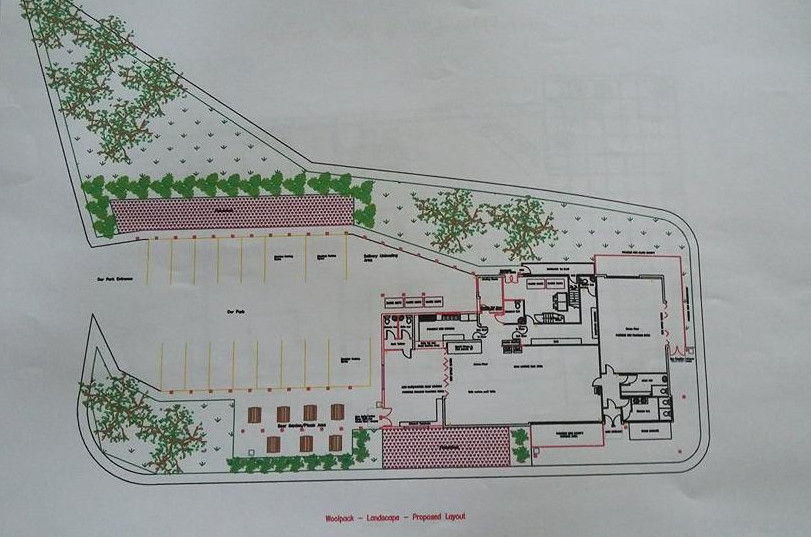 The original landscaping plan fo the Woolpack