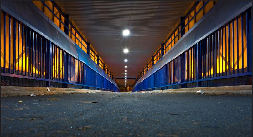 M602 footbridge - by Matthew Wilkinson via Flickr