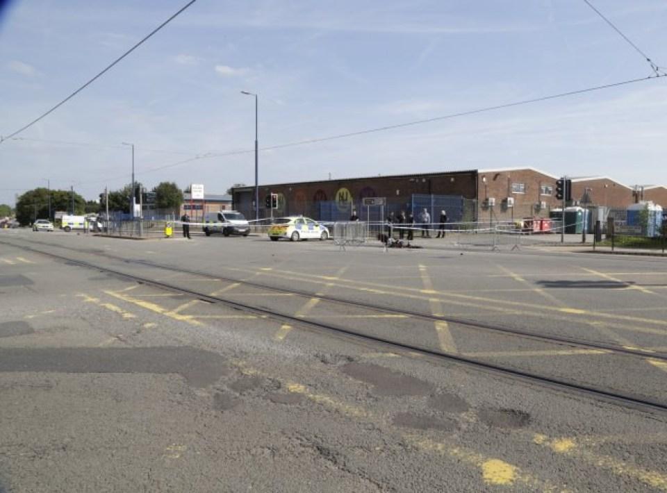 Motorbike crash Eccles New Road Salford 150816 - AS