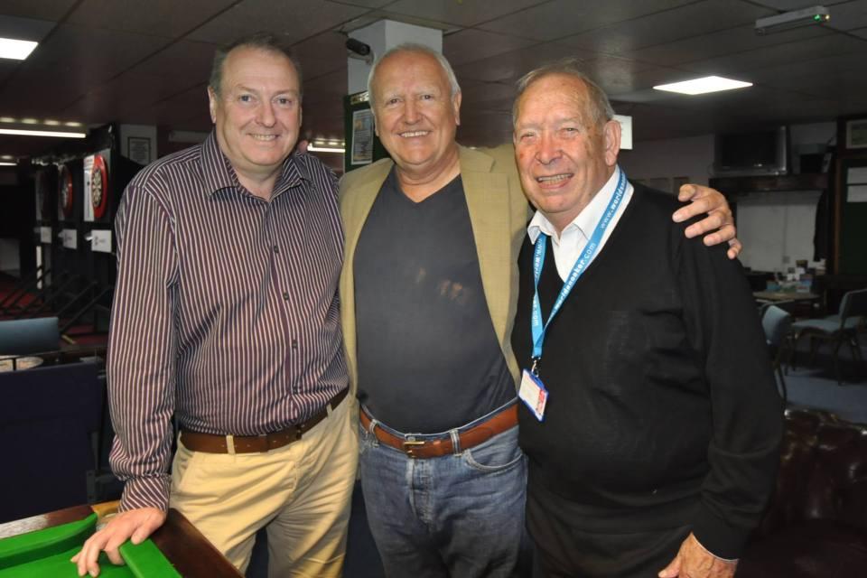 Paddy Browne and David Taylor with head coach Reg Davies
