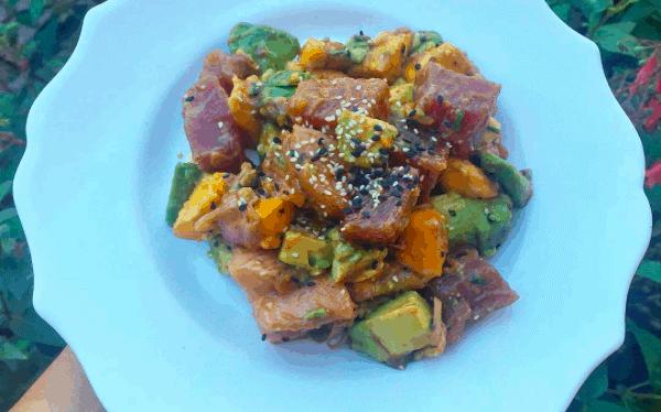 Homemade Ahi Tuna Poke