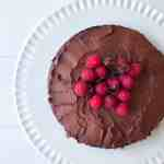Flourless Chocolate Cake with Chocolate Hearts