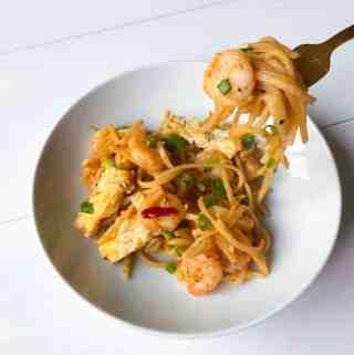 Peanut Free Pad Thai with Shrimp