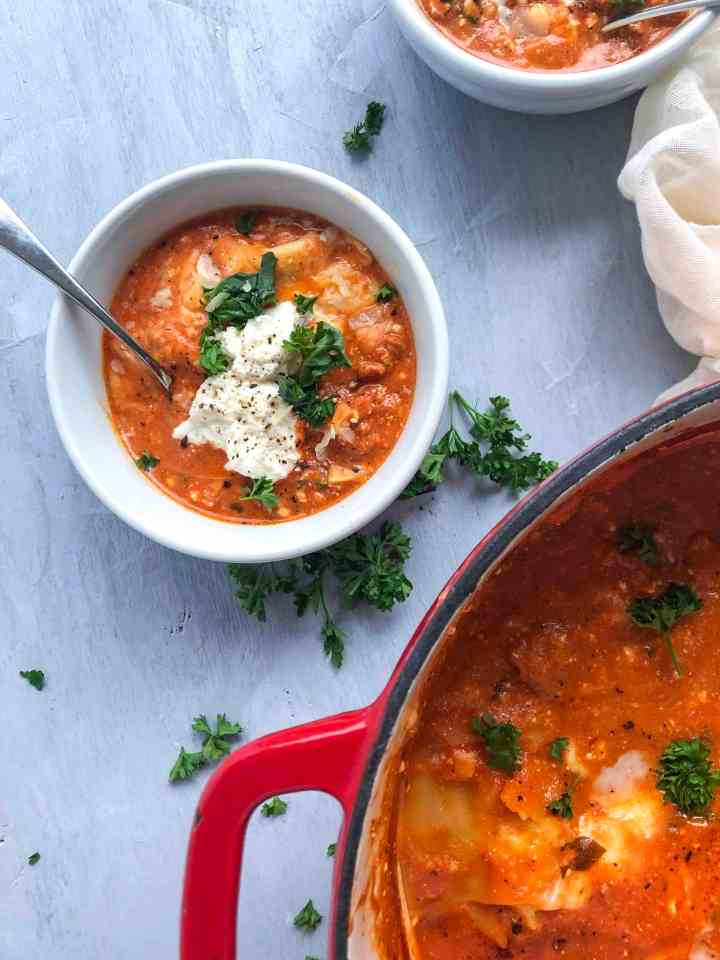 Gluten Free Lasagna Soup