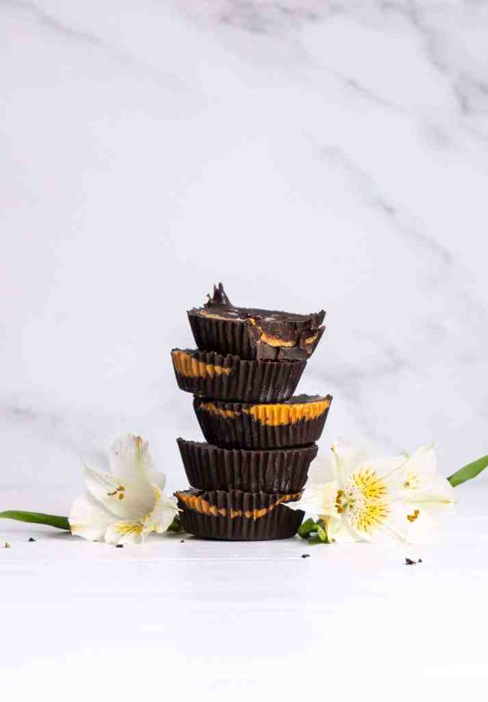 A stack of peanut butter cups.