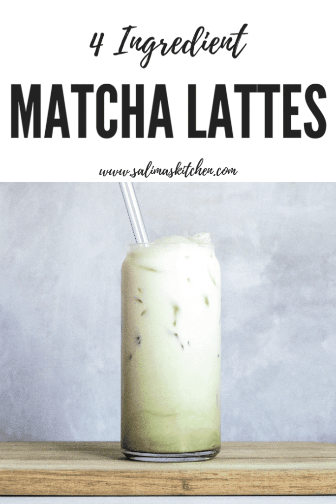 An iced matcha latte.