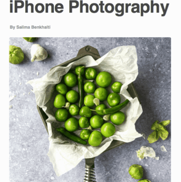 The cover of the book Intro to iPhone Photography.