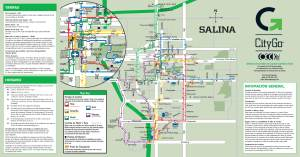 Salina CityGo Fixed Route Map Spanish