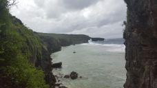 Toda la isla es así, siempre en el borde