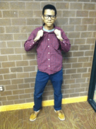 Framed glasses: A great way to express personal style that says that you're confident. -Emmanuel Atufu , Freshman