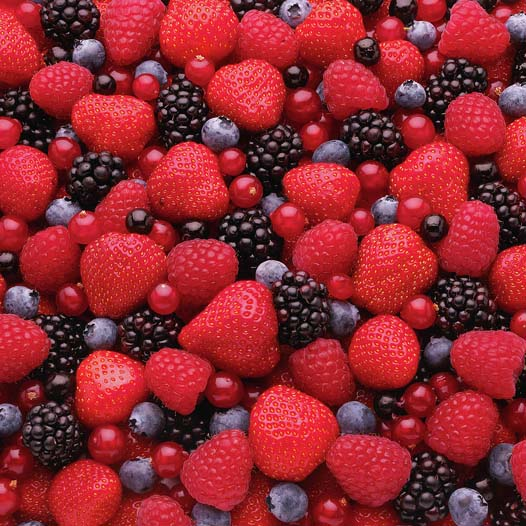 Mixed berries - Many berries are rich in anthocyanins