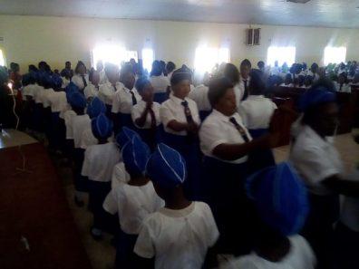 induction of Girls Brigade, St John's Mtendere, Zambia