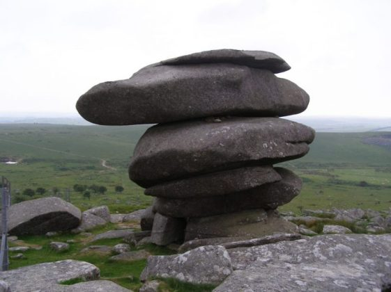 18 Cheesewring, a granite tor on Bodmin Moor, Cornwall