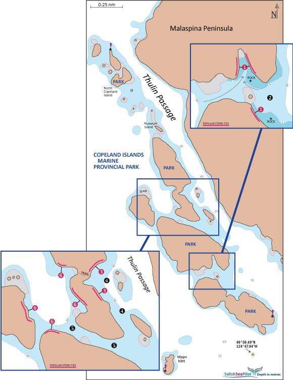 Copeland Islands chartlet