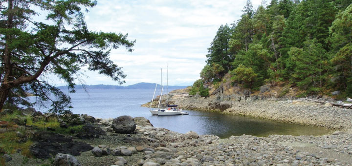 Secure moorage in the Copeland Islands