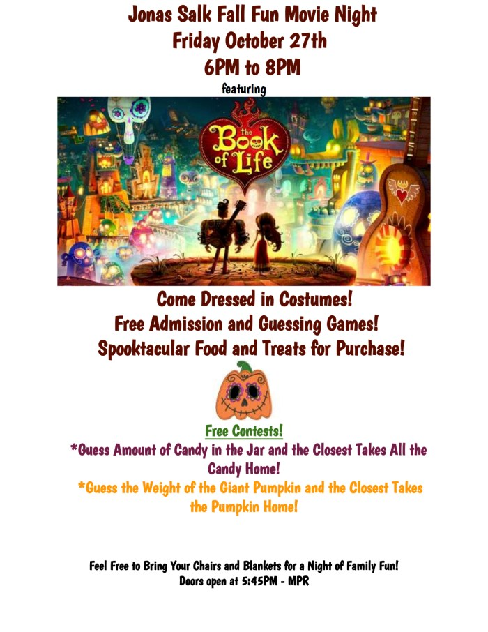 2017.10.27 - Book of Life - MOVIE NIGHT FLYER
