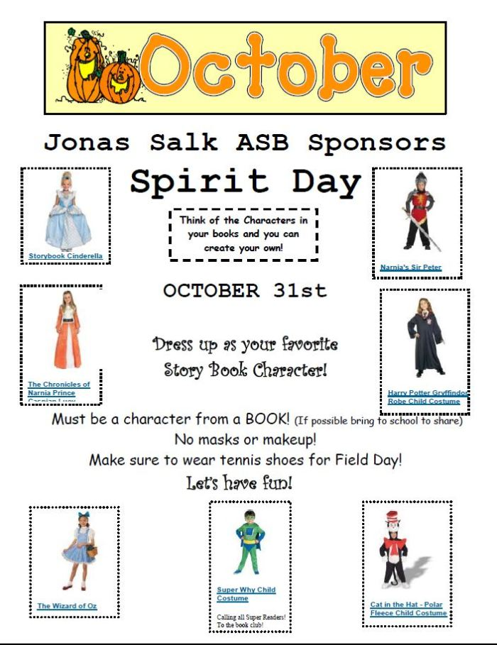 2017.10.31 - October Student Council Sponsors Spirit Day