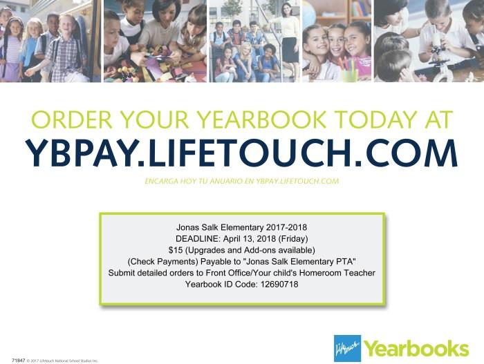 2017_18 - Jonas Salk ES - Lifetouch Yearbook Order flyer1.jpg