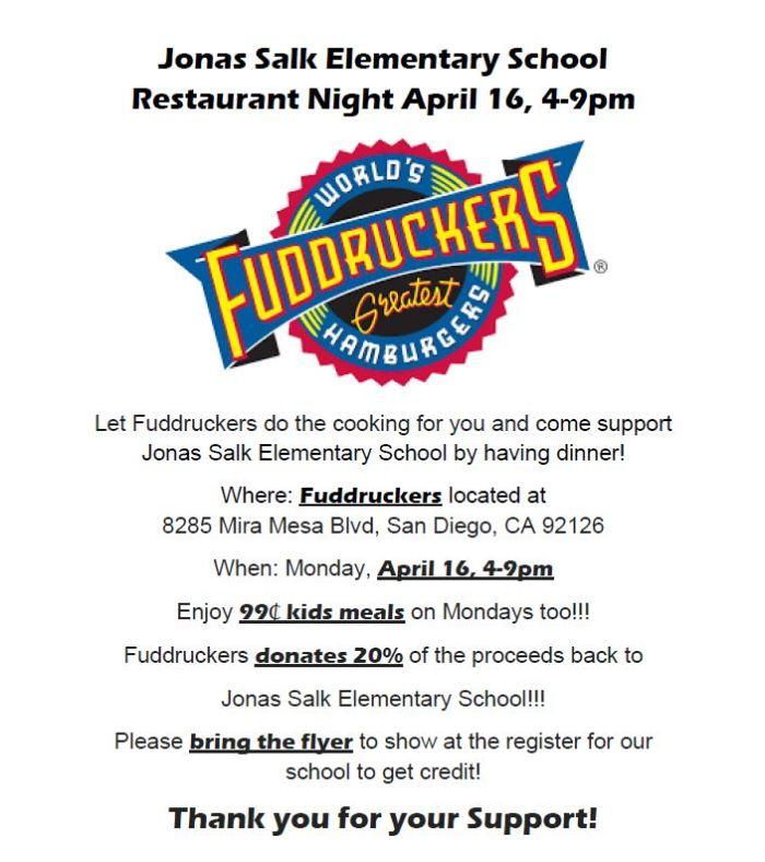 2018.04.16 - Restaurant Night Fuddruckers JSES