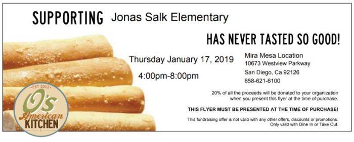 2019.01.17 - PTA Restaurant Night O's